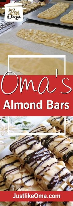 Easy breezy Scandinavian almond bars with a German twist... quick to make and so goooood! ❤️ Recipe: http://www.quick-german-recipes.com/almond-bar-recipe.html
