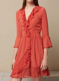 Uterqüe Spain - Canary Islands Product Page - Ready to wear - View all - Silk polka dot dress - 129