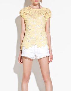 SILK LACE T-SHIRT - T-shirts - TRF - ZARA United States