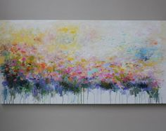 Flower paintingabstract acrylic painting abstract art by artbyoak1