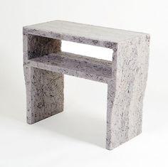diseñador Jens Praet mostró su colección de muebles de documentos triturados en el A Touch of Green exposición de diseño colectivo Droog en Milán el mes pasado.