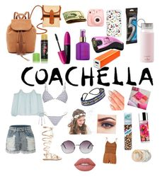 """Coachella ready"" by italiamaria on Polyvore featuring TLC&you, Glo Minerals, Revlon, tarte, Polaroid, Samsung, Hello Kitty, LE3NO, Elizabeth and James and Gianvito Rossi"