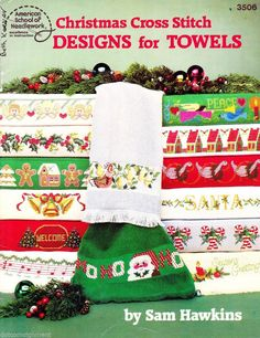 American School of Needlework Christmas Cross Stitch Designs for TOWELS Booklet #AmericanSchoolofNeedlework