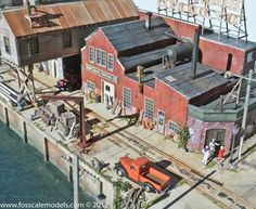 A HO Scale Layout of the Red Hook Wharf @ http://www.hobbylinc.com/model-trains