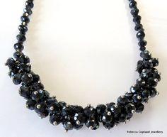 Gunmetal Crystal Short Insta-glam Necklace by studioR7designs