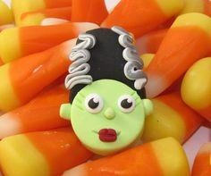 Bride of Frankenstein Bead Bow Center  by RozPetalzBeadz on Etsy, $3.00