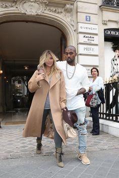 I don't really care for them specifically, but i love Kim's outfit here!