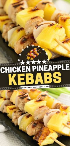Feeling a little fancier for spring dinner? Mix up your traditional fare on the grill with these quick and easy skewers! Chicken Pineapple Kebabs are the perfect combination of sweet and tangy. The marinade will leave you craving for more! Save this healthy dinner recipe! Healthy Dinner Recipes, Healthy Food, Yummy Food, Tasty, Creamy Chicken, Baked Chicken, Chicken Recipes, Kebabs, Skewers