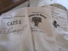flour sack towels I made for teacher appreciation week