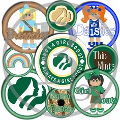 80% OFF 18 GIRL SCOUT Bottle Cap Images Instant Download Daisy Brownie Cookies Patches Badges Digital Printable Images 300 Dpi by RonisBowTique on Etsy
