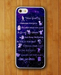Walt Disney Lesson Quotation iPhone Skin Protector for iPhone 4 4S 5 5S 5C