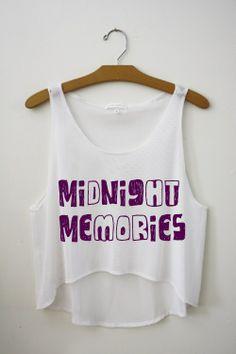 midnight memories crop top