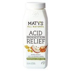 Made with whole food ingredients, Maty's All Natural Acid Indigestion Relief syrup helps maintain healthy acid levels with no harmful side effects. How To Relieve Heartburn, Heartburn Symptoms, Natural Remedies For Heartburn, Heartburn Relief, Acid Reflux Relief, Stop Acid Reflux, Acid Reflux Remedies, Bloating After Eating