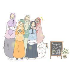 Rabbit Wallpaper, Fairy Wallpaper, Cute Girl Wallpaper, Cartoon Pics, Girl Cartoon, Cute Cartoon, Hijab Drawing, Friend Cartoon, Islamic Cartoon