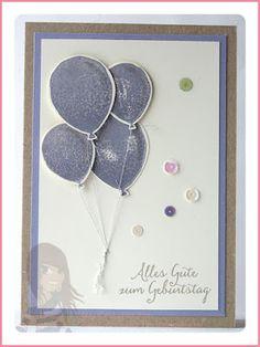 Stampin' Up! Rosa Mädchen Kulmbach Geburtstagskarte mit Partyballons