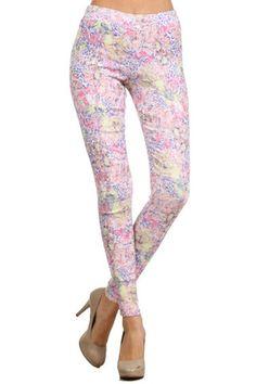 Pastel Jacquard Pants