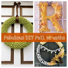 diy fall wreaths  http://www.smallhomelove.com/diy-fall-wreaths-for-your-front-door/#