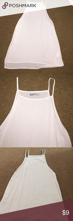 White, tang top. Used once Halter top Cotton On Tops Blouses