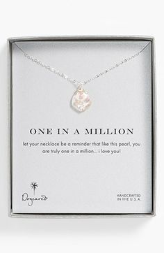 Dogeared 'One in a Million' Keshi Pearl Necklace | Nordstrom ~ what a beautiful gift this would make for someone special.xx