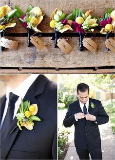 Spring Boutonnieres Pide tu presupuesto para tu evento a www.valenciana.com.uy / wedding planners & bussines event planners