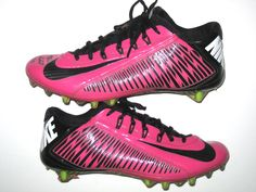 Michael Wilhoite San Francisco 49ers Game Worn & Signed Pink Breast Cancer Awareness Nike Cleats