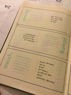 Bulletin journal holidays birthdays
