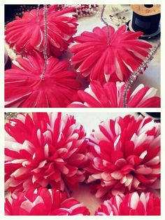 For super fluffy mums...best trick ever- take out the stem pieces, tie a knot in a pipe cleaner and thread thru the mum. Makes them easier to work with too! #homecoming #mum