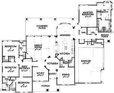 Floor Plans AFLFPW24483 - 1 Story Ranch Home with 4 Bedrooms, 3 Bathrooms and 3,197 total Square Feet