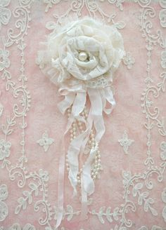 Ivory Lace Gillyflower Handmade by Jennelise~❥