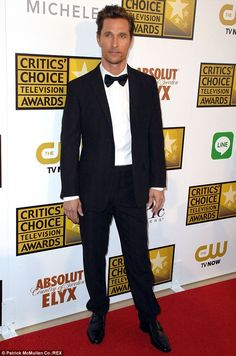 He has a new job: Matthew McConaughy, pictured in June at the Critics Choice Awards, has b...