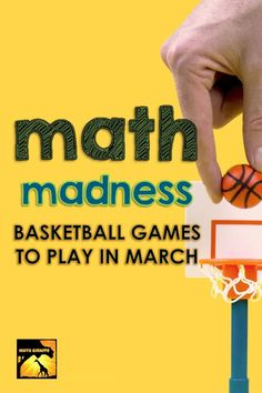 Math Madness - Basketball Math Lessons for March Math Games For Kids, Fun Math, 8th Grade Math, Sixth Grade, Math Classroom, Classroom Ideas, Brain Based Learning, Secondary Math, Calculus