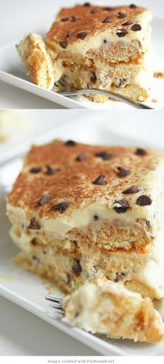 Cookie Dough #Tiramisu #cookiedough #chocolatechip