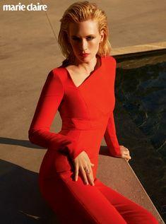 January Jones looks red-hot in her photo shoot