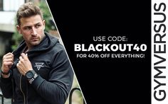 Until Midnight Only.  Use code BLACKOUT40 for 40% off your entire basket.  @spearmanchris wearing the Lightweight Zip Hoodie and Versus Tee in size M.  Hurry as very limited stock throughout our store.  Shape Your Future at GYMVERSUS.com  #gymversus #shapeyourfuture #activewear #luxe #sportswear #athleisure #fashion #performance #style #london #clothing #apparel #health #fitness #fit #fitnessmodel #model #girl #fitspo #photooftheday #selfie #active #strong #motivation #instagood…