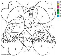number coloring pages | Color By Number Coloring Pages For Kids (10 ...