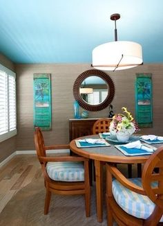 DIY tropical dining room | Coastal Theme by Karen Grace Interiors - tropical - dining room - los ...