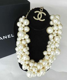 Chanel Spring 2013 Runway Multi Pearl Choker Necklace | From a unique collection of vintage choker necklaces