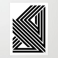 Lines Make a Star Art Print