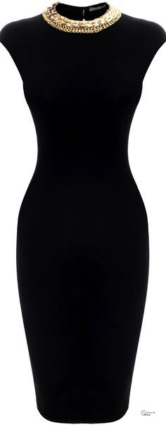 Alexander McQueen SS 2014, Embroidered Neckline Pencil Dress find more women fashion