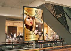 Hair care & Salon Bus Stop Ad by Psd Templates on Creative Market