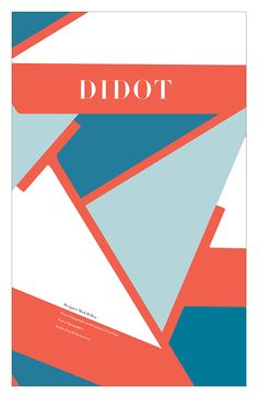 Didot: Typography Poster & Package (Typography 1) on Behance