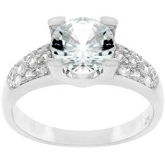 Classic Clear Engagement Ring $17.00