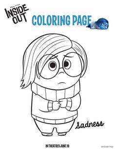 """Looking for a less-mess activity? Try these fun coloring pages.   29 Ways To Throw The Ultimate """"Inside Out"""" Birthday Party"""