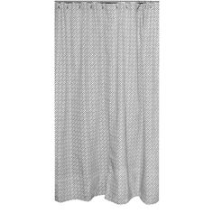 @Overstock - Erin Charcoal Designer Shower Curtain - This stylish grey and white shower curtain features a busy and intriguing pattern. The curtain is composed of 100-percent cotton and includes sturdy nickel plated grommets.    http://www.overstock.com/Bedding-Bath/Erin-Charcoal-Designer-Shower-Curtain/7900968/product.html?CID=214117  $135.99