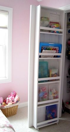 Closet bookcase!!!  This may be my solution!