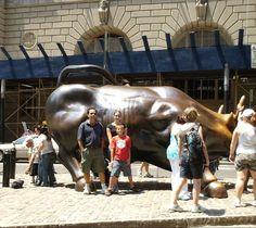 See the ferocious Wall Street Bull!   #Travel #NYC #NewYorkCity   http://newyorktours.onboardtours.com
