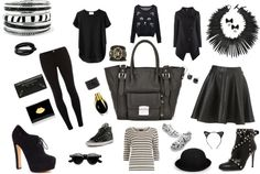 """""""Black with hints of gold"""" by jackiecawthra ❤ liked on Polyvore"""