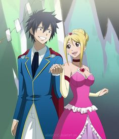 I love love love Gray and Lucy!! I ship them!! But nalu too... But I guess if Gray can't have her then natsu should!