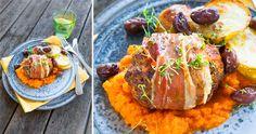 Swedish Recipes, Bacon, Grains, Rice, Food, Essen, Meals, Seeds, Yemek