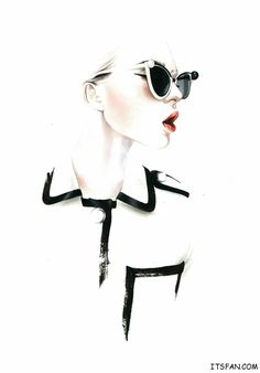 #sunglasses #elegant lady #fashion #eyewear #illustration #art #style #highfashion